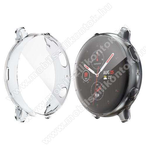 Okosóra szilikon védő tok / keret - ÁTLÁTSZÓ - Szilikon előlapvédő is - SAMSUNG Galaxy Watch Active2 44mm