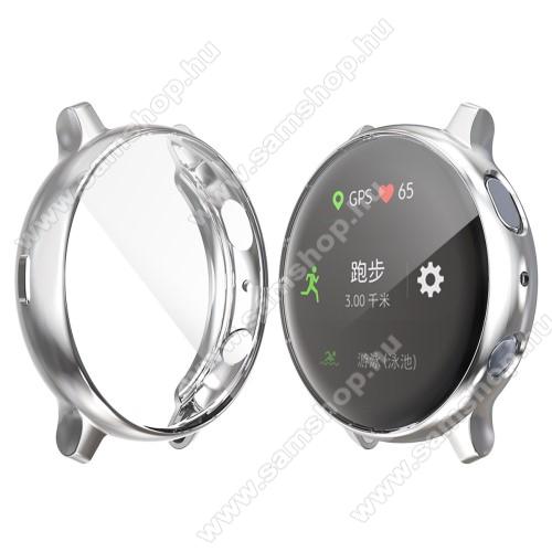 SAMSUNG Galaxy Watch Active2 44mmOkosóra szilikon védő tok / keret - EZÜST - Szilikon előlapvédő is - SAMSUNG Galaxy Watch Active2 44mm