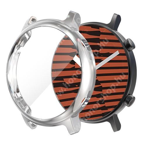 HUAWEI Watch GT 2 42mm Okosóra szilikon védő tok / keret - EZÜST - Szilikon előlapvédő is  - HUAWEI Watch GT 2 42mm