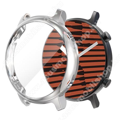 Okosóra szilikon védő tok / keret - EZÜST - Szilikon előlapvédő is  - HUAWEI Watch GT 2 42mm