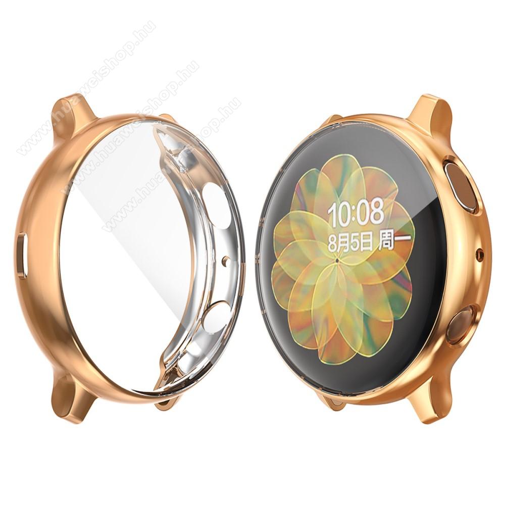 Okosóra szilikon védő tok / keret - ROSE GOLD - Szilikon előlapvédő is - SAMSUNG Galaxy Watch Active2 44mm