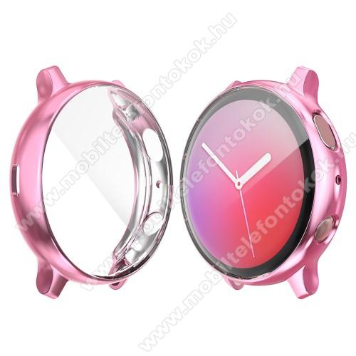 Okosóra szilikon védő tok / keret - RÓZSASZÍN - Szilikon előlapvédő is - SAMSUNG Galaxy Watch Active2 44mm