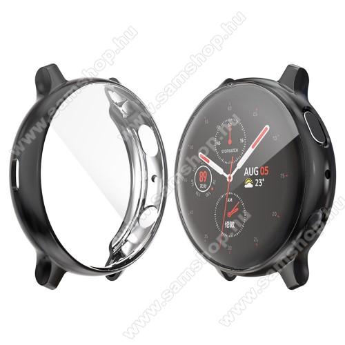 SAMSUNG Galaxy Watch Active2 40mmOkosóra szilikon védő tok / keret - Szilikon előlapvédő is - SAMSUNG Galaxy Watch Active2 40mm - FEKETE