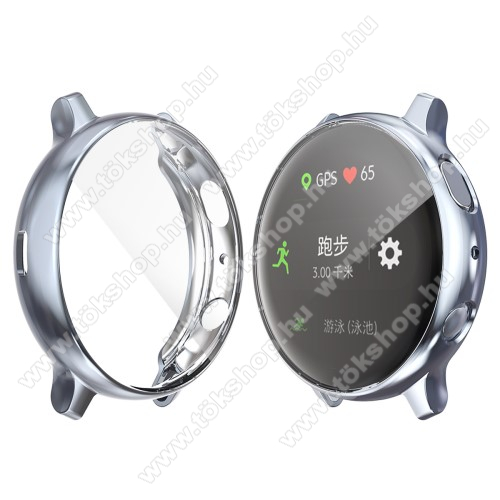 Okosóra szilikon védő tok / keret - Szilikon előlapvédő is - SAMSUNG Galaxy Watch Active2 40mm - FEGYVER METÁL