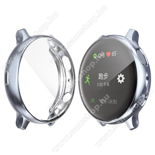SAMSUNG Galaxy Watch Active2 40mm Okosóra szilikon védő tok / keret - Szilikon előlapvédő is - SAMSUNG Galaxy Watch Active2 40mm - FEGYVER METÁL