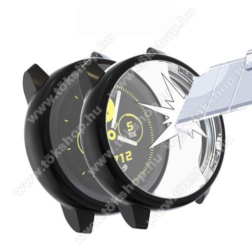 Okosóra szilikontok - A teljes előlapot védi, 360 fokos védelem! - FEKETE - SAMSUNG SM-R500 Galaxy Watch Active