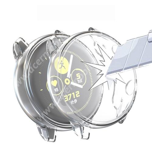 Okosóra szilikontok - A teljes előlapot védi, 360 fokos védelem! - ÁTLÁTSZÓ - SAMSUNG SM-R500 Galaxy Watch Active
