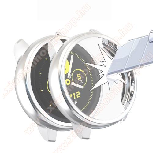 Okosóra szilikontok - A teljes előlapot védi, 360 fokos védelem! - EZÜST - SAMSUNG SM-R500 Galaxy Watch Active