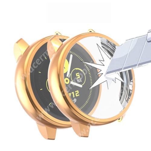 Okosóra szilikontok - A teljes előlapot védi, 360 fokos védelem! - PEZSGŐ - SAMSUNG SM-R500 Galaxy Watch Active