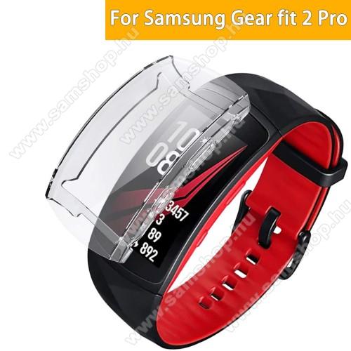 SAMSUNG SM-R360 Gear Fit 2Okosóra szilikontok - A teljes előlapot védi, 360 fokos védelem! - ÁTLÁTSZÓ - SAMSUNG Gear Fit 2 SM-R360 / Samsung Gear Fit 2 Pro SM-R365