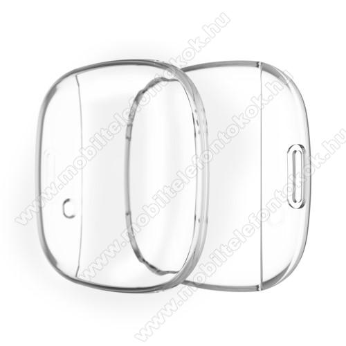 Fitbit Versa 3Okosóra szilikontok - ÁTLÁTSZÓ - Fitbit Versa 3 / Fitbit Sense