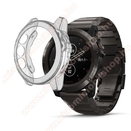Okosóra szilikontok - ÁTLÁTSZÓ - Garmin Fenix 5S / 5S Plus / 5S Plus Sapphire