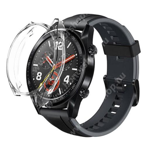 HUAWEI Watch 2 Pro Okosóra szilikontok - ÁTLÁTSZÓ - HUAWEI Watch GT