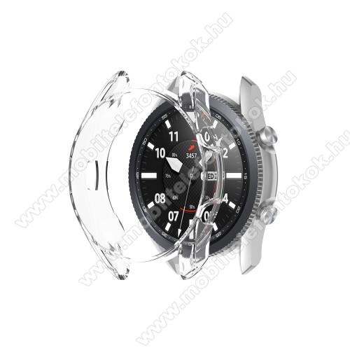 Okosóra szilikontok - ÁTLÁTSZÓ - SAMSUNG Galaxy Watch3 45mm (SM-R845F)