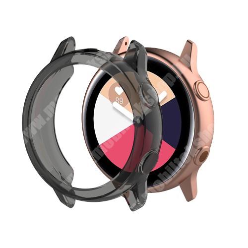 Okosóra szilikontok - ÁTTETSZŐ FEKETE - SAMSUNG SM-R500 Galaxy Watch Active