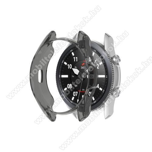 Okosóra szilikontok - ÁTTETSZŐ FEKETE - SAMSUNG Galaxy Watch3 41mm (SM-R855F)