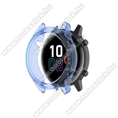 HUAWEI Honor MagicWatch 2 42mm Okosóra szilikontok - ÁTTETSZŐ KÉK - HUAWEI Honor MagicWatch 2 42mm