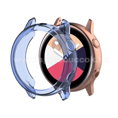 Okosóra szilikontok - ÁTTETSZŐ KÉK - SAMSUNG SM-R500 Galaxy Watch Active