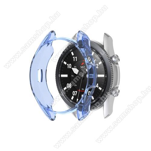 Okosóra szilikontok - ÁTTETSZŐ KÉK - SAMSUNG Galaxy Watch3 45mm (SM-R845F)