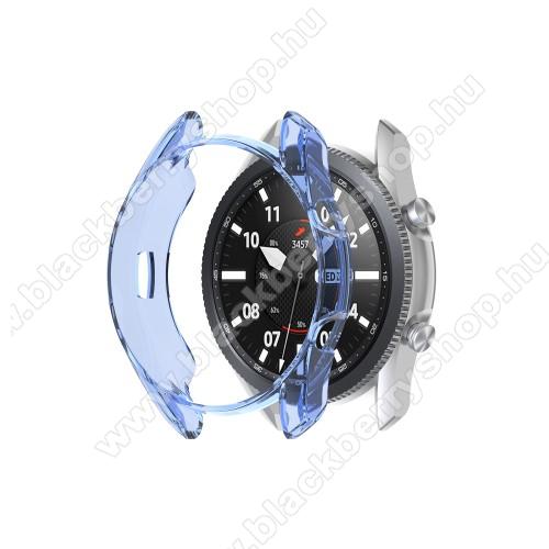 Okosóra szilikontok - ÁTTETSZŐ KÉK - SAMSUNG Galaxy Watch3 41mm (SM-R855F)