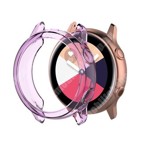 Okosóra szilikontok - ÁTTETSZŐ LILA - SAMSUNG SM-R500 Galaxy Watch Active