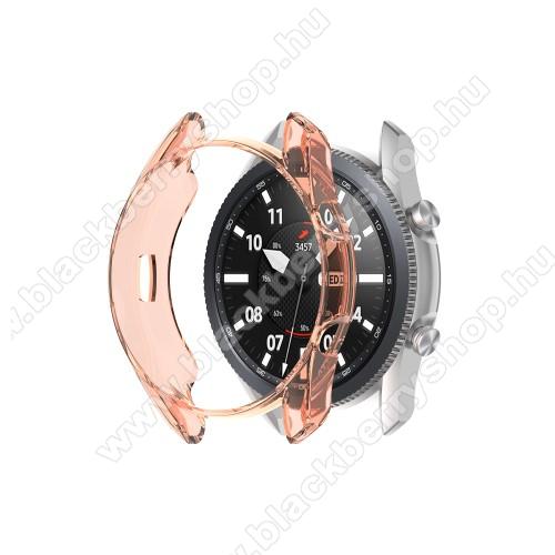 Okosóra szilikontok - ÁTTETSZŐ NARANCSSÁRGA - SAMSUNG Galaxy Watch3 41mm (SM-R855F)