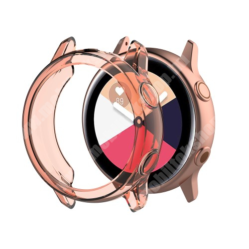 Okosóra szilikontok - ÁTTETSZŐ RÓZSASZÍN - SAMSUNG SM-R500 Galaxy Watch Active