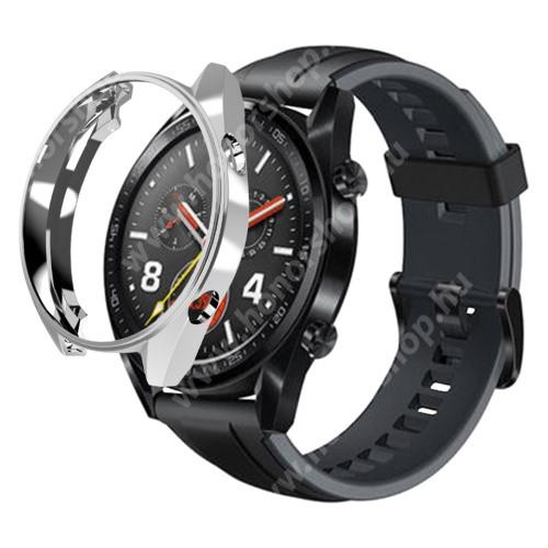 HUAWEI Watch GT 46mm Okosóra szilikontok - EZÜST - HUAWEI Watch GT