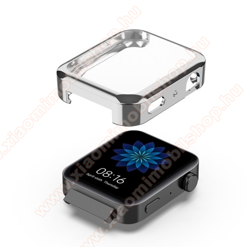 Xiaomi Mi WatchOkosóra szilikontok - EZÜST - Szilikon előlapvédő is - Xiaomi Mi Watch