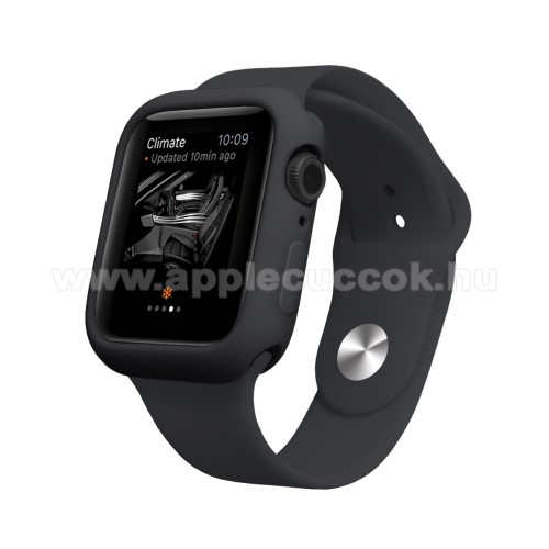 APPLE Watch Series 4 40mm Okosóra szilikontok - FEKETE - APPLE Watch Series 4 40mm