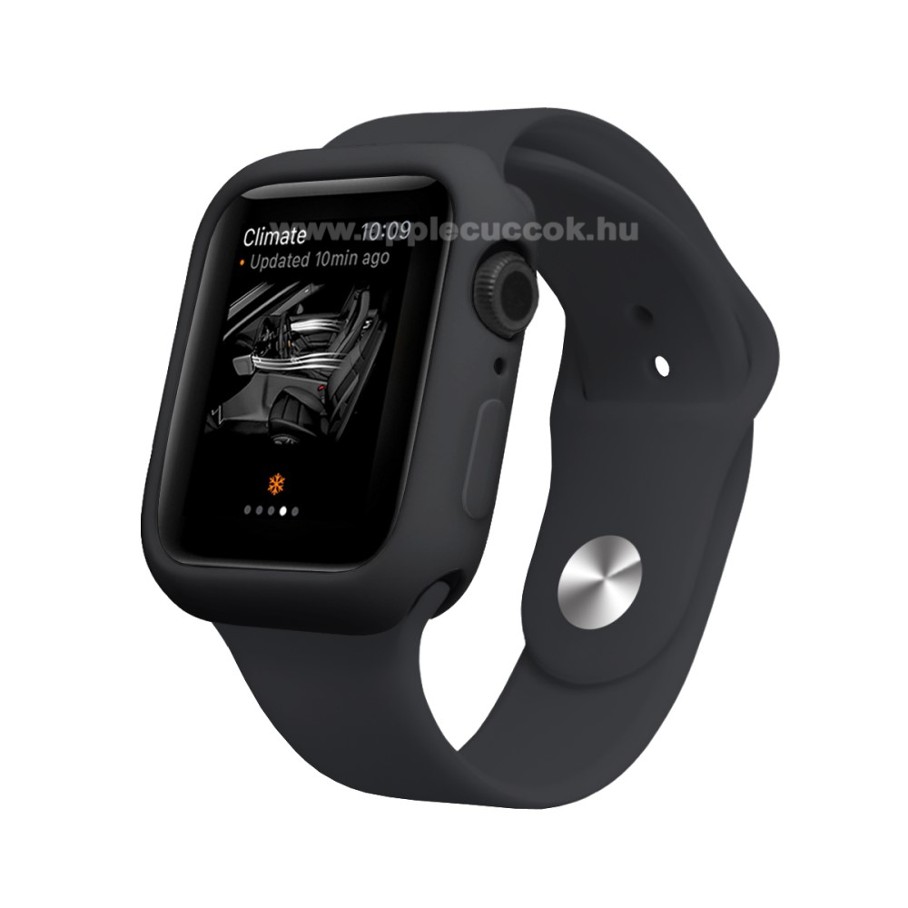 APPLE Watch Series 4 44mm Okosóra szilikontok - FEKETE - APPLE Watch Series 4 44mm