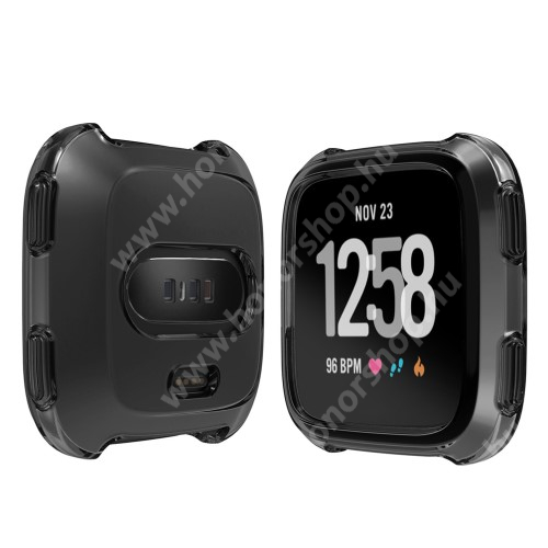 Okosóra szilikontok - FEKETE - Fitbit Versa