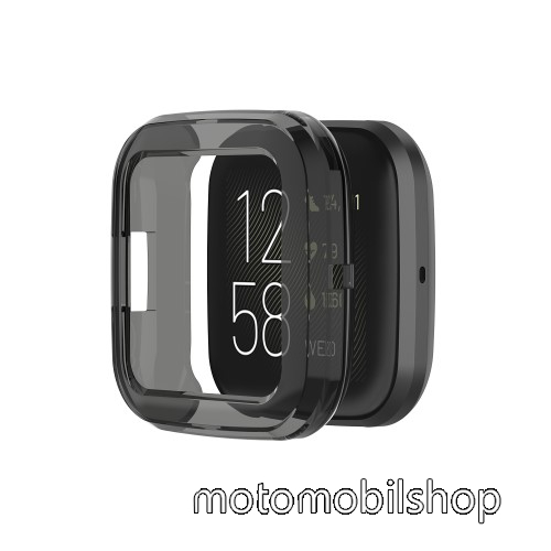 Okosóra szilikontok - FEKETE - Fitbit Versa 2