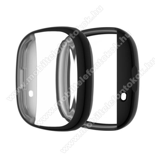 Fitbit Versa 3Okosóra szilikontok - FEKETE - Fitbit Versa 3 / Fitbit Sense