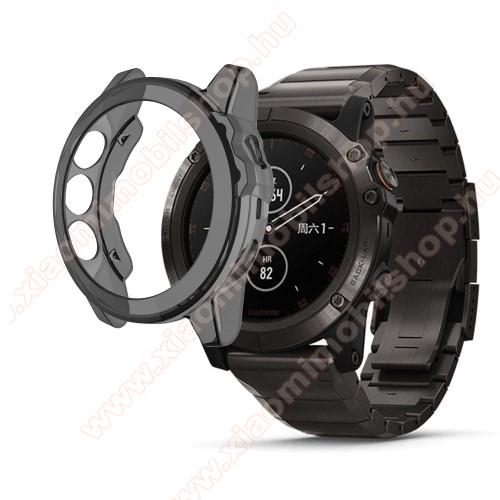 Okosóra szilikontok - FEKETE - Garmin Fenix 5S / 5S Plus / 5S Plus Sapphire