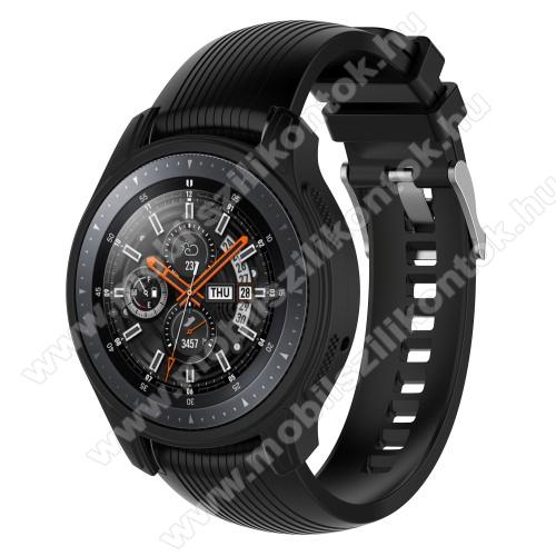 Okosóra szilikontok - FEKETE - SAMSUNG Galaxy Watch 46mm / SAMSUNG Gear S3 Frontier