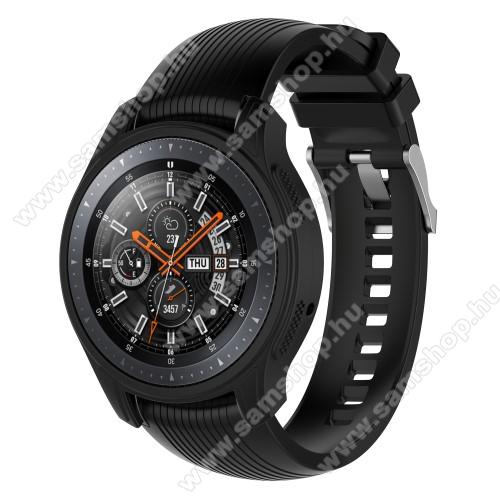 SAMSUNG Galaxy Watch 46mm (SM-R800NZ)Okosóra szilikontok - FEKETE - SAMSUNG Galaxy Watch 46mm / SAMSUNG Gear S3 Frontier