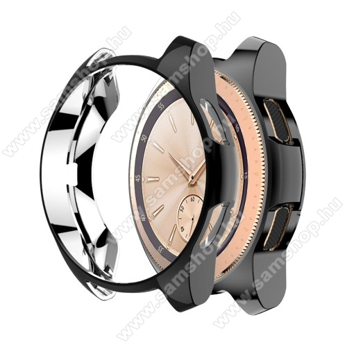 SAMSUNG Galaxy Watch 42mm (SM-R810NZ) Okosóra szilikontok - FEKETE - SAMSUNG SM-R810NZ Galaxy Watch 42mm