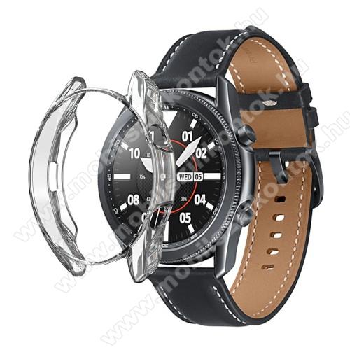 Okosóra szilikontok - GALVANIZÁLT ÁTLÁTSZÓ - SAMSUNG Galaxy Watch3 41mm (SM-R855F)