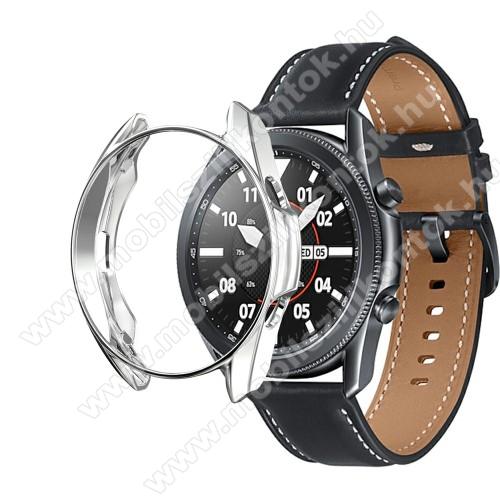 Okosóra szilikontok - GALVANIZÁLT EZÜST - SAMSUNG Galaxy Watch3 41mm (SM-R855F)