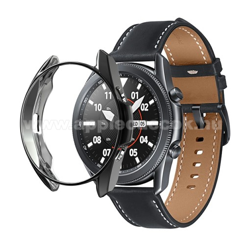 Okosóra szilikontok - GALVANIZÁLT FEKETE - SAMSUNG Galaxy Watch3 45mm (SM-R845F)