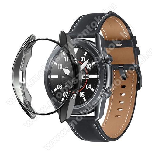 Okosóra szilikontok - GALVANIZÁLT FEKETE - SAMSUNG Galaxy Watch3 41mm (SM-R855F)