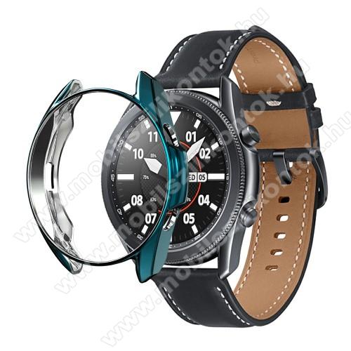 Okosóra szilikontok - GALVANIZÁLT KÉK - SAMSUNG Galaxy Watch3 41mm (SM-R855F)