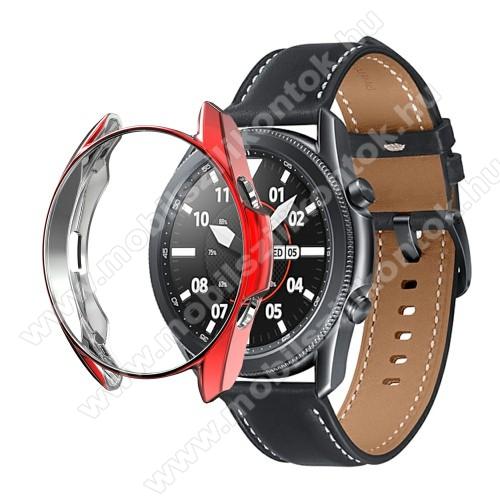 Okosóra szilikontok - GALVANIZÁLT PIROS - SAMSUNG Galaxy Watch3 41mm (SM-R855F)