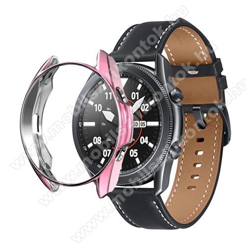 Okosóra szilikontok - GALVANIZÁLT RÓZSASZÍN - SAMSUNG Galaxy Watch3 41mm (SM-R855F)