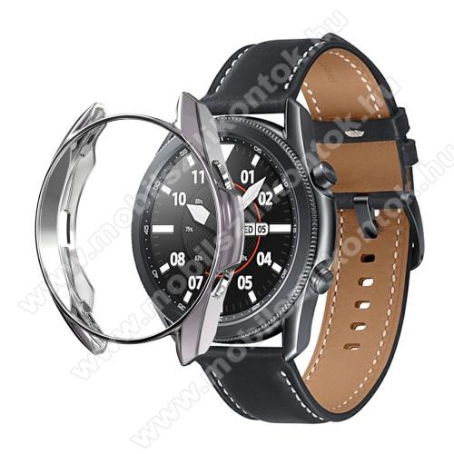 Okosóra szilikontok - GALVANIZÁLT SZÜRKE - SAMSUNG Galaxy Watch3 41mm (SM-R855F)