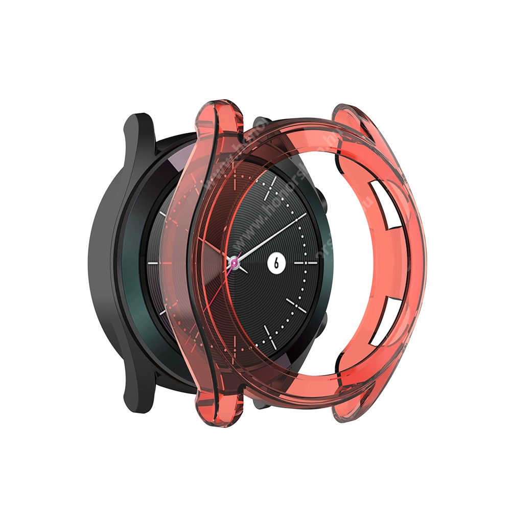 HUAWEI Watch GT 2 46mm Okosóra szilikontok - PIROS - HUAWEI Watch GT 46mm / HUAWEI Watch GT 2 46mm