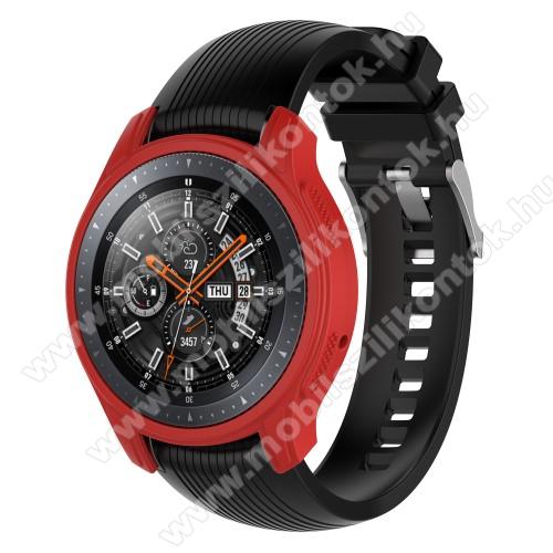 Okosóra szilikontok - PIROS - SAMSUNG Galaxy Watch 46mm / SAMSUNG Gear S3 Frontier
