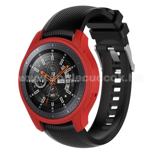 Okos�ra szilikontok - PIROS - SAMSUNG Galaxy Watch 46mm / SAMSUNG Gear S3 Frontier