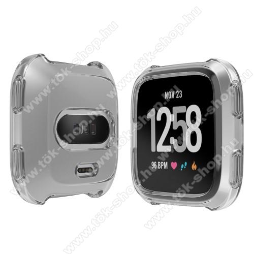 Okosóra szilikontok - SZÜRKE - Fitbit Versa / Fitbit Versa Lite